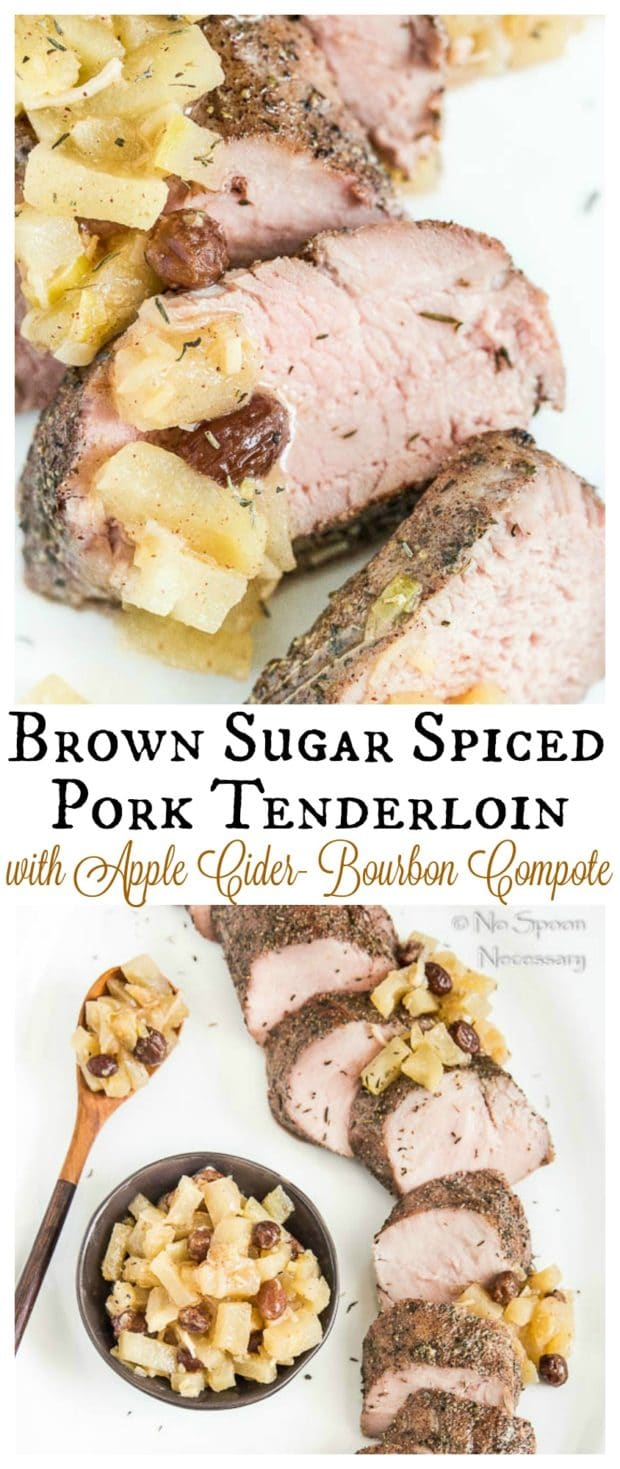 Pork Tenderloin with Apple Compote- long pin