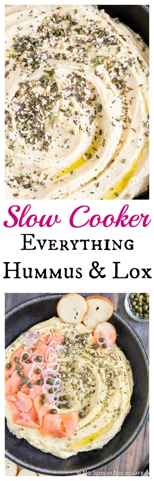 Slow Cooker Everything Hummus & Lox