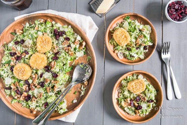 Brussels, Goat & Cranberry Salad-102