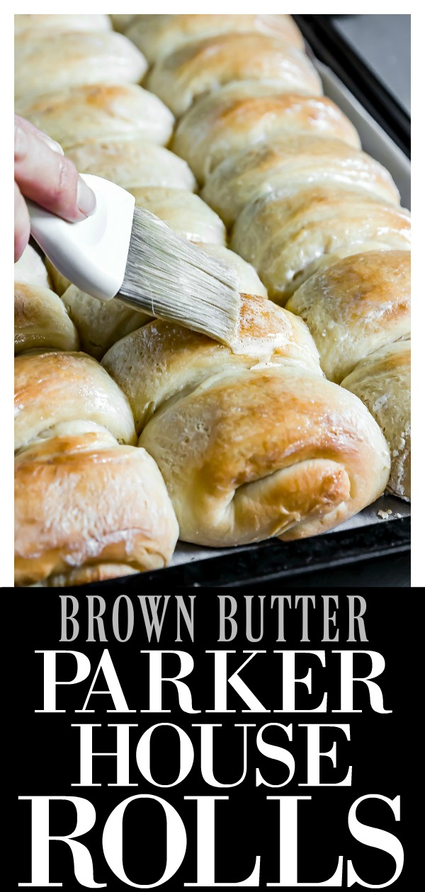 These Honey & Brown Butter Parker House Rolls are incredibly soft and melt-in-your-mouth tender! Flavored with warm brown butter and sweet honey these are far from ordinaryand make the perfect holiday side!  #rolls #holiday #side #parker #house #recipe #vegetarian