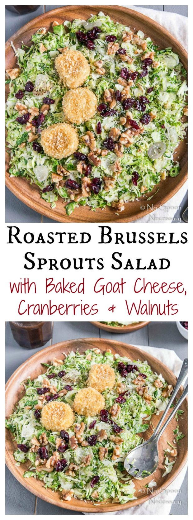 Roasted Brussels Sprouts Salad with Goat Cheese, Cranberries & Walnuts1