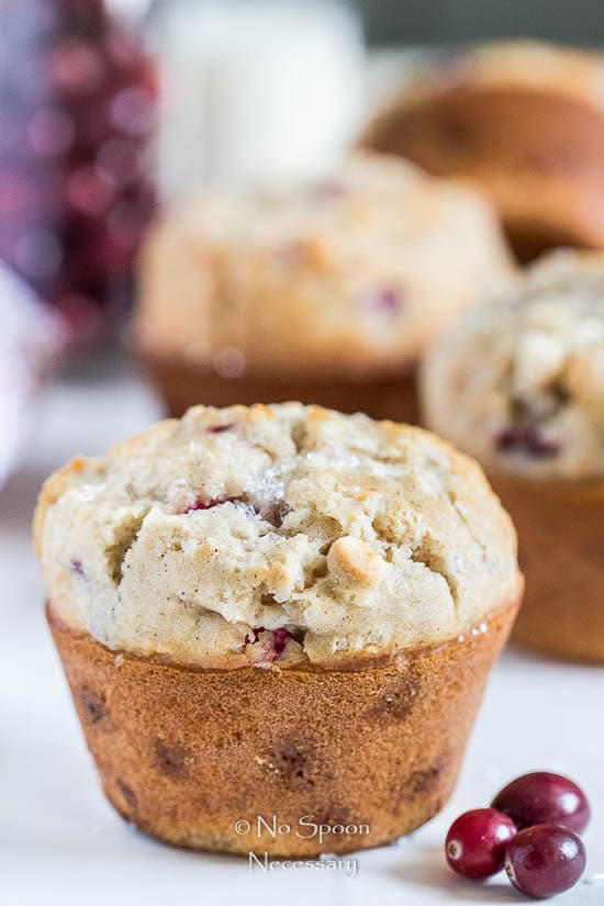 Cranberry & White Chocolate Jumbo Muffins - No Spoon Necessary