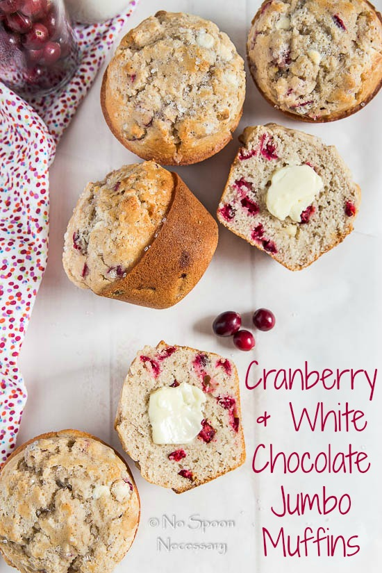 Cranberry & White Chocolate Jumbo Muffins
