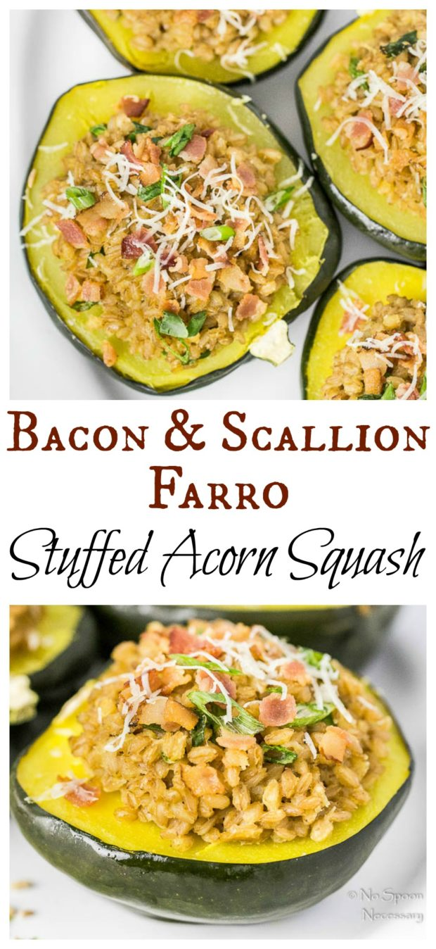 Bacon & Scallion Farro Stuffed Acorn Squash-long pin1
