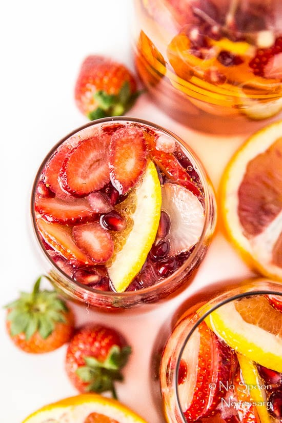 Blood Orange, Pomegranate & Strawberry Champagne Sangria-70