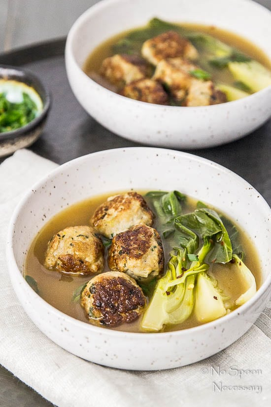 Ginger Chicken Meatballs with Bok Choy in Miso Broth-42