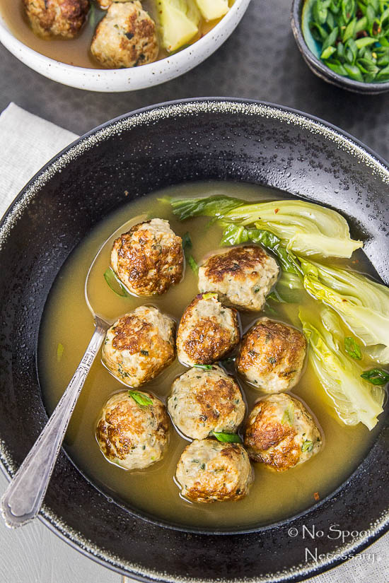 Ginger Chicken Meatballs with Bok Choy in Miso Broth-68