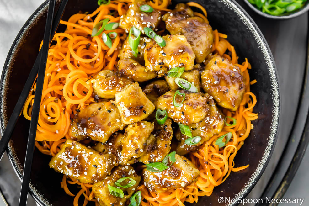 Asian chicken with shanghai noodles