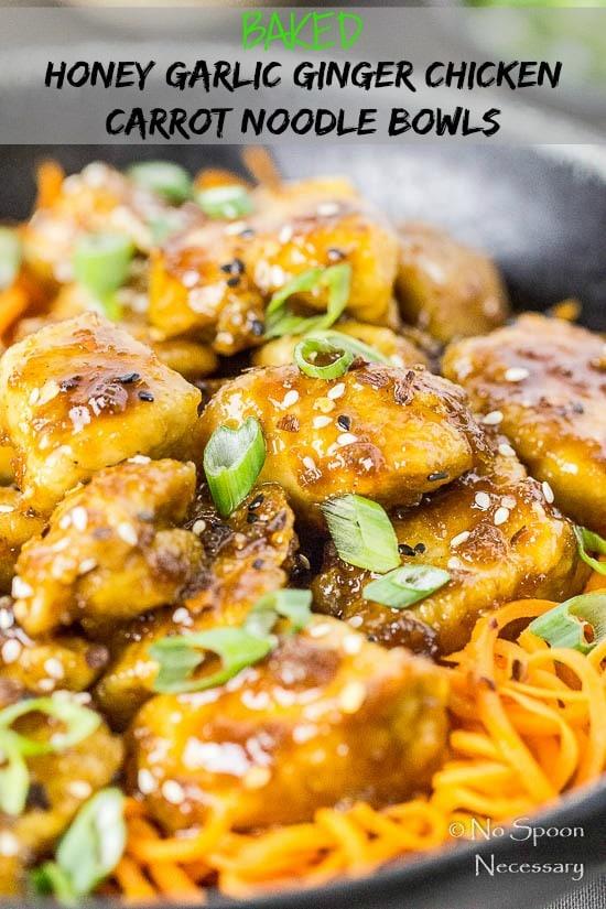 Honey Garlic Ginger Chicken Carrot Noodle Bowls-short pin3