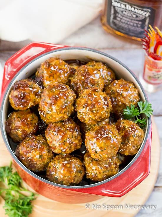 Jack Daniels Glazed Meatballs-68
