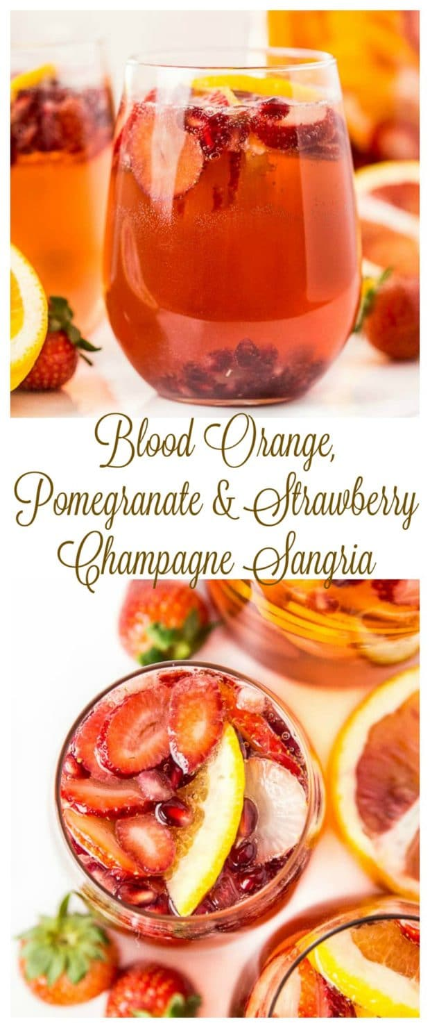Blood Orange, Pomegranate & Strawberry Champagne Sangria- long pin2