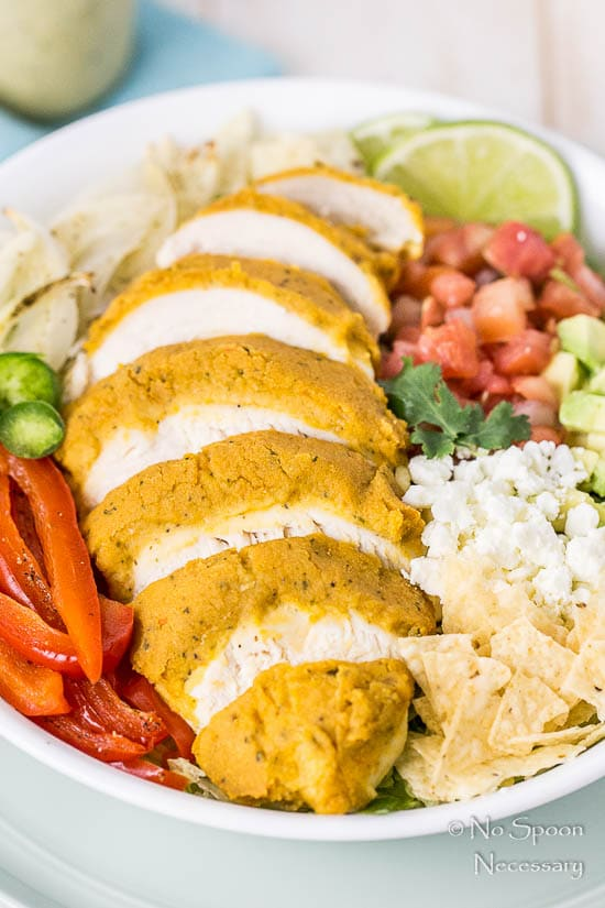 Fajita Hummus Crusted Chicken Salad-27
