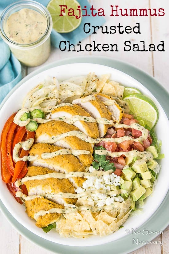 Fajita Hummus Crusted Chicken Salad-short pin6