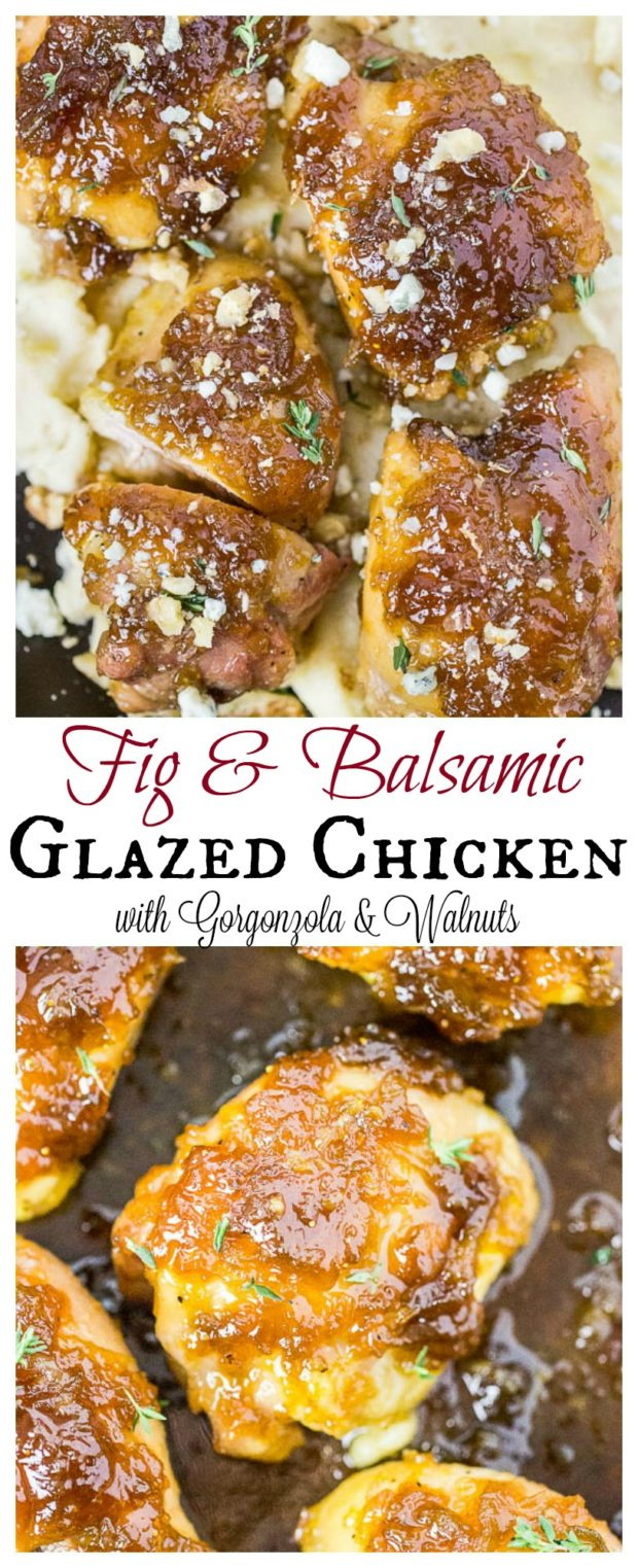 Fig & Balsamic Glazed Chicken Thighs- long pin1