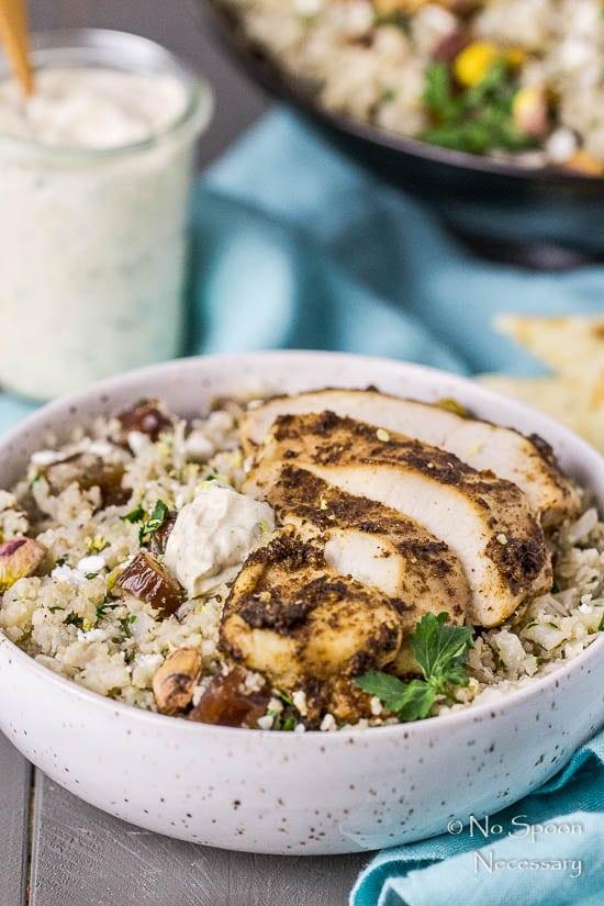 Moroccan Chicken Cauliflower Couscous Bowls-120