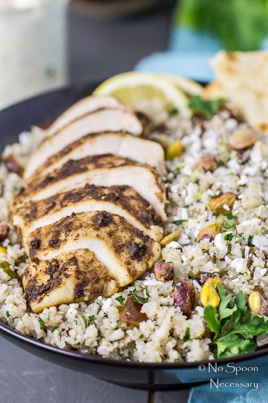 Moroccan Chicken Cauliflower Couscous Bowls-39