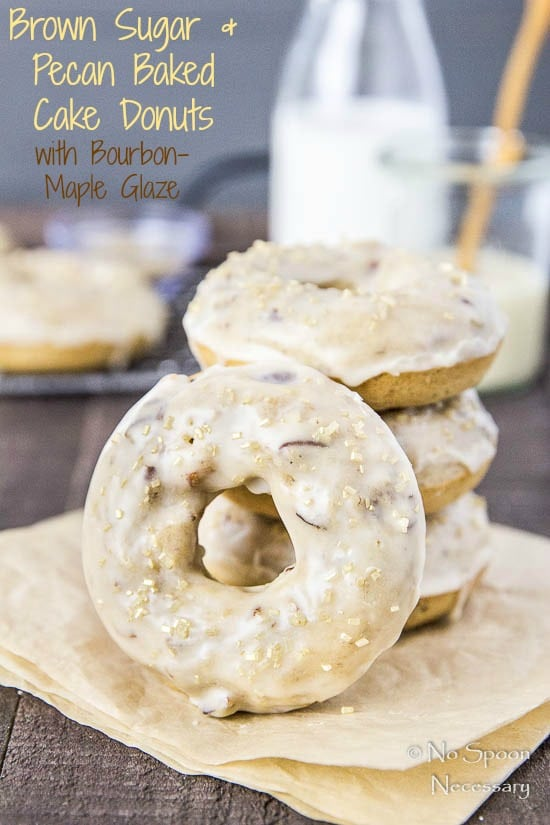 Brown Sugar & Pecan Baked Cake Donuts with Bourbon Maple Glaze-short ...