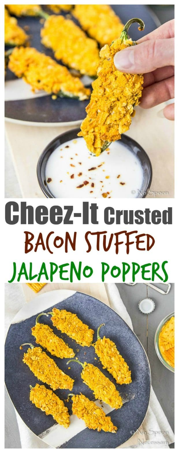 Cheez-It Crusted Bacon Stuffed Jalapeno Poppers- long pin1