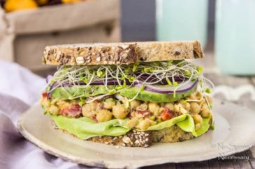 Smashed Chipotle Chickpea Salad Sandwich