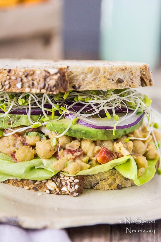Smashed Chipotle Chickpea Salad Sandwich - No Spoon Necessary
