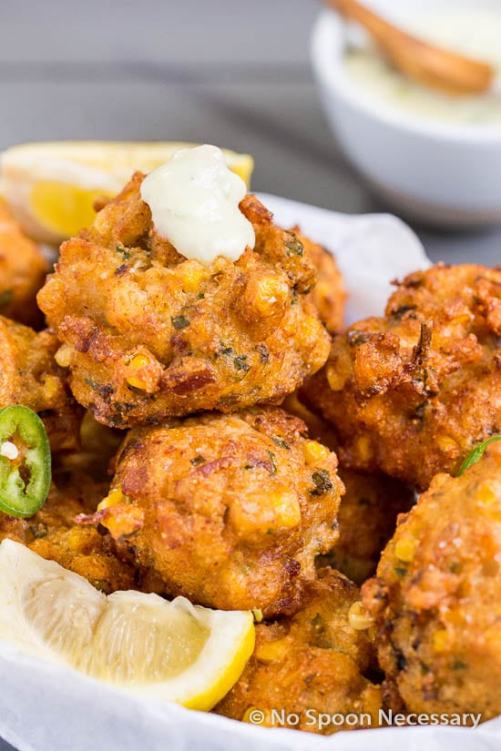 Lobster Corn Fritters