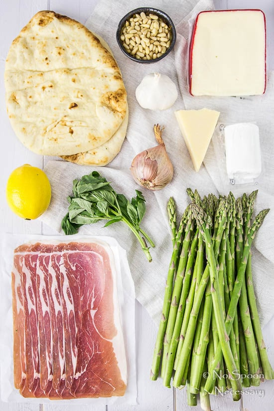 Naan Pizza with Asparagus Pesto, Prosciutto, Goat Cheese & Fontina-8-2