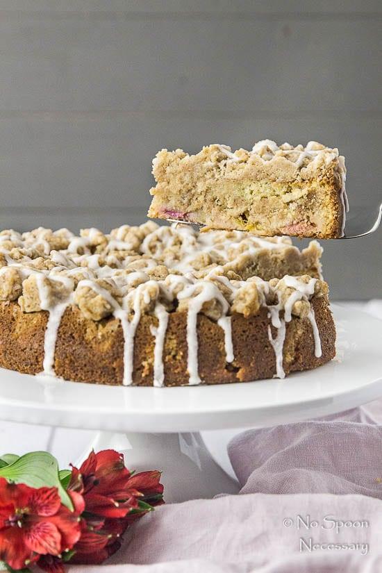 Rhubarb & Candied Ginger Crumb Coffee Cake-240