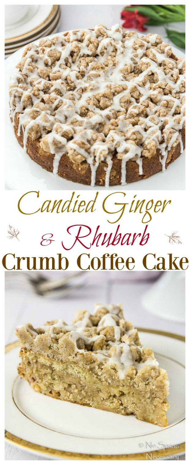 Rhubarb & Candied Ginger Crumb Coffee Cake- long pin3