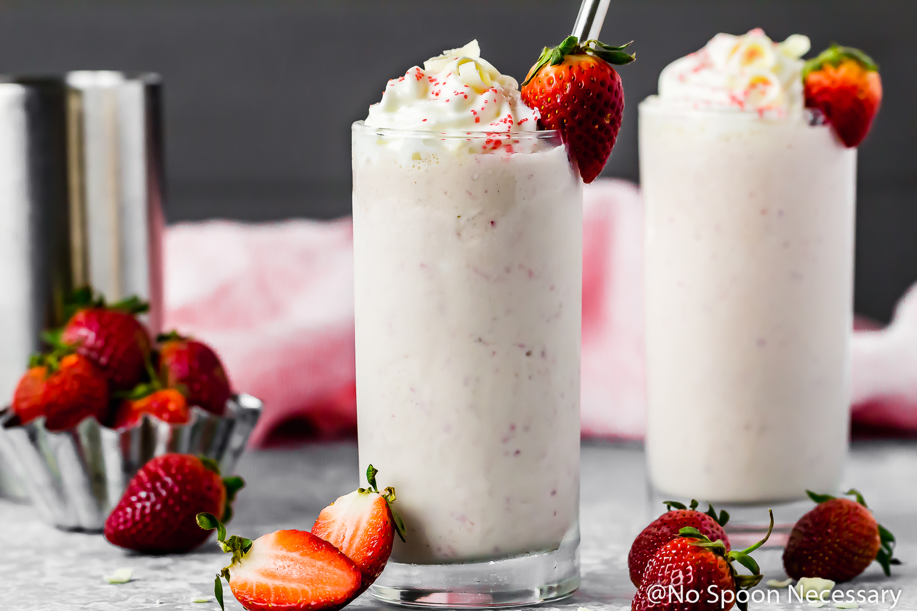Strawberry White Chocolate Boozy Milkshake