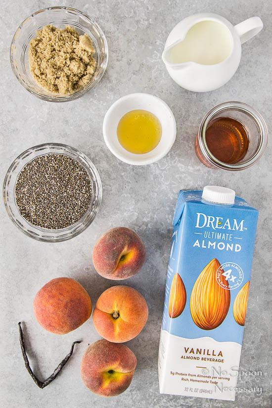 Amaretto Peaches & Cream Chia Pudding Trifle-20