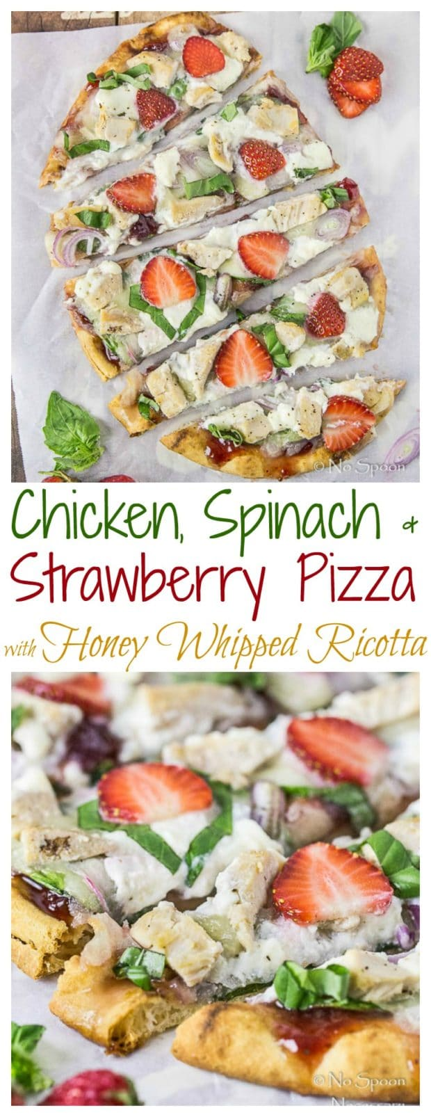 Chicken, Spinach & Strawberry Pizza- long pin1