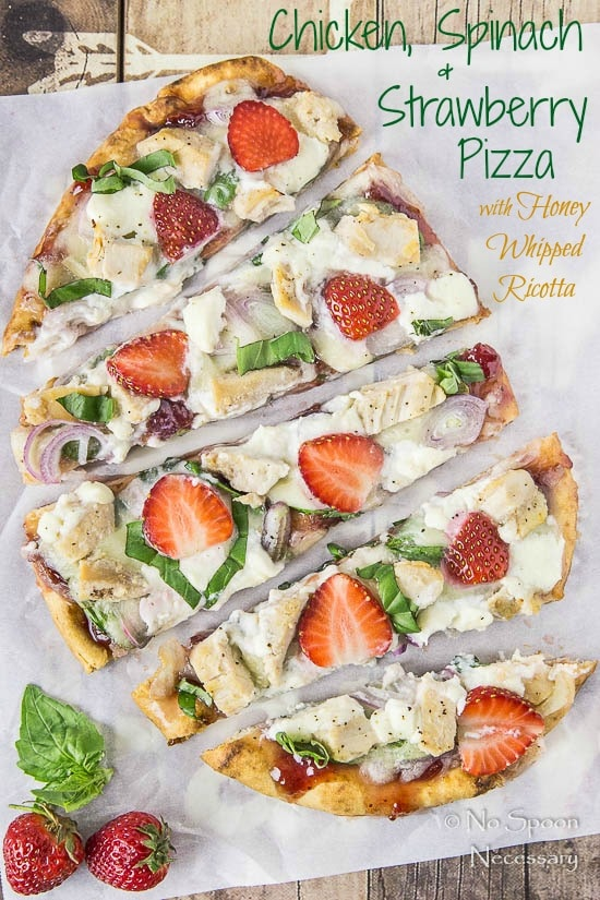 Chicken, Spinach & Strawberry Pizza- short pin1