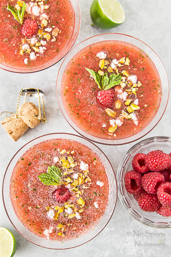 Chilled Watermelon & Rose Soup {with goat cheese & pistachios}-143
