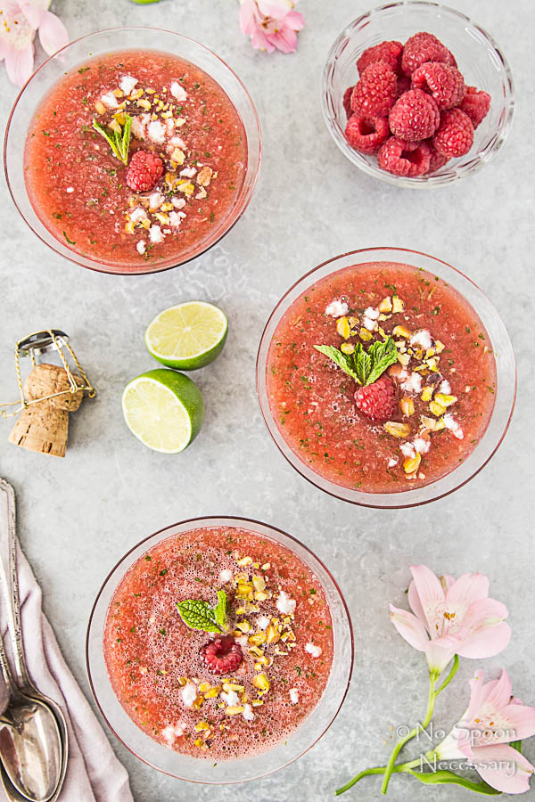 Chilled Watermelon & Rose Soup {with goat cheese & pistachios}-63