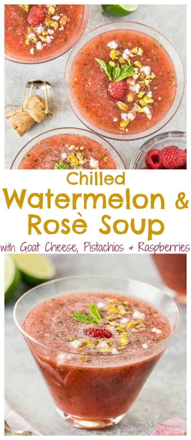 Chilled Watermelon & Rose Soup {with goat cheese & pistachios}- long ...