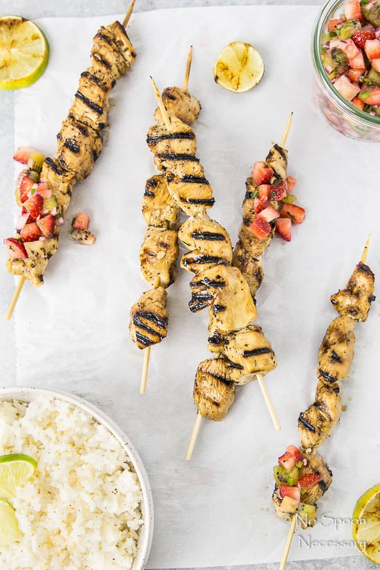 Honey-Balsamic Chicken Skewers with Strawberry Kiwi Jalapeno Salsa-112