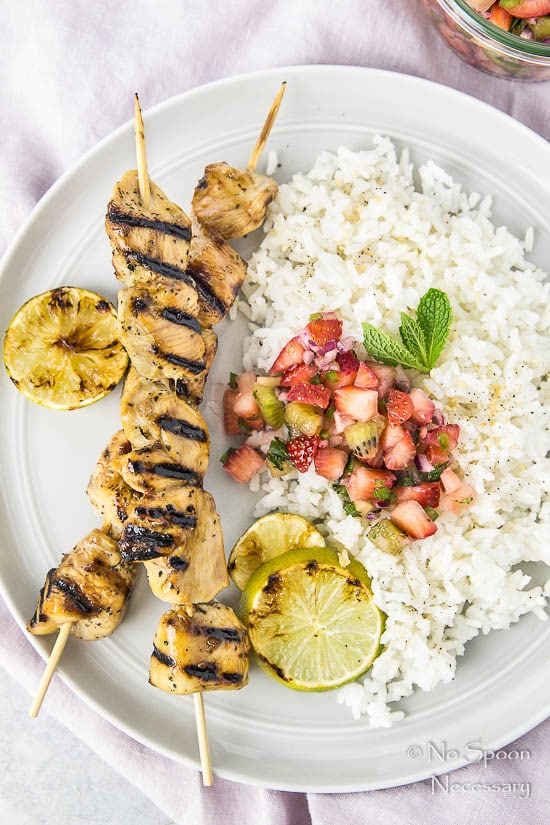 Honey-Balsamic Chicken Skewers with Strawberry Kiwi Jalapeno Salsa-124