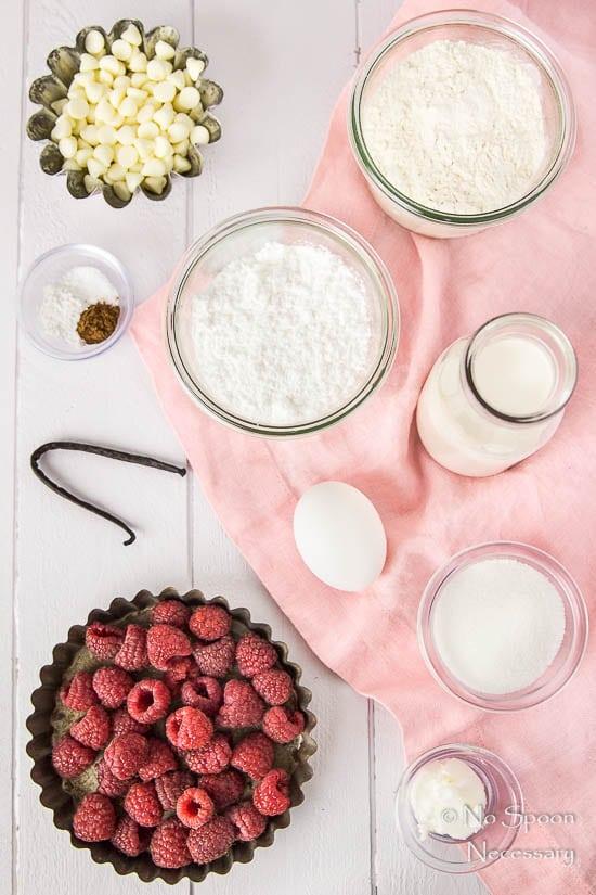 Raspberry & Vanilla Baked Donuts with White Chocolate Glaze-11