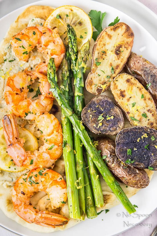 Sheet Pan Garlic & Lemon Shrimp, Asparagus & Fingerling Potatoes-113