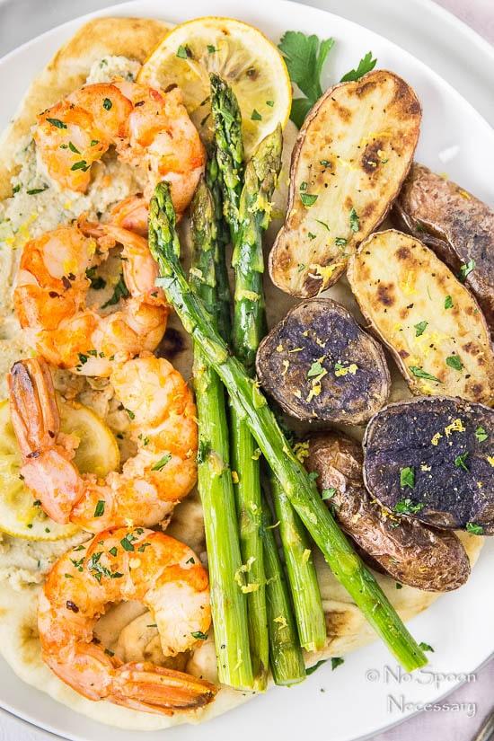 Sheet Pan Garlic & Lemon Shrimp, Asparagus & Fingerling Potatoes-113