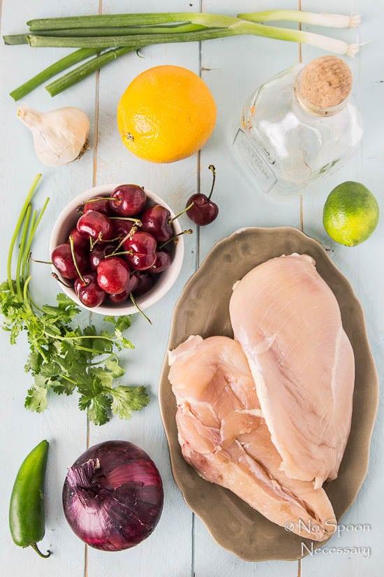 Tequila Sunrise Chicken with Cherry-Orange Salsa -PREP-12