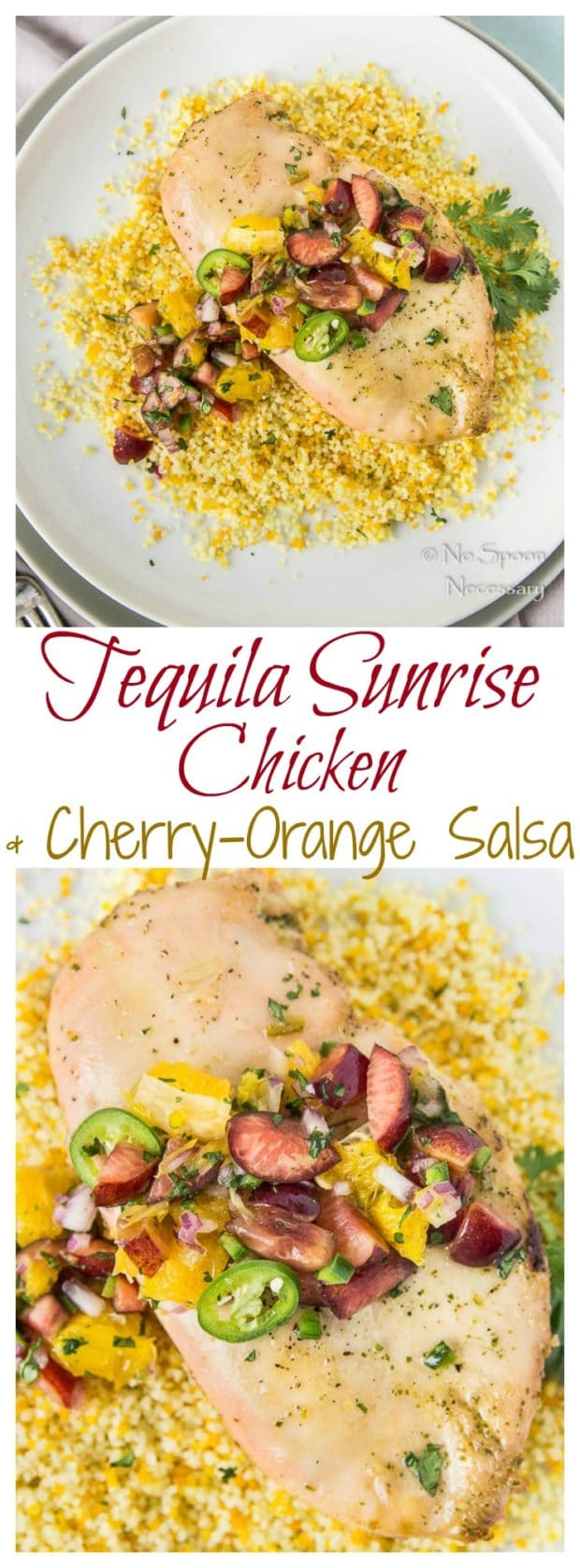 Tequila Sunrise Chicken with Cherry-Orange Salsa- long pin1