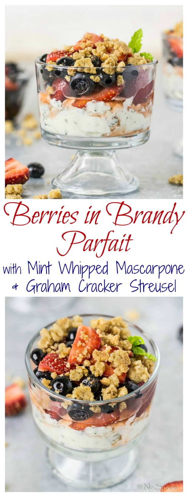 Berries in Brandy Parfait with Whipped Mascarpone & Graham Cracker Streusel- long pin1