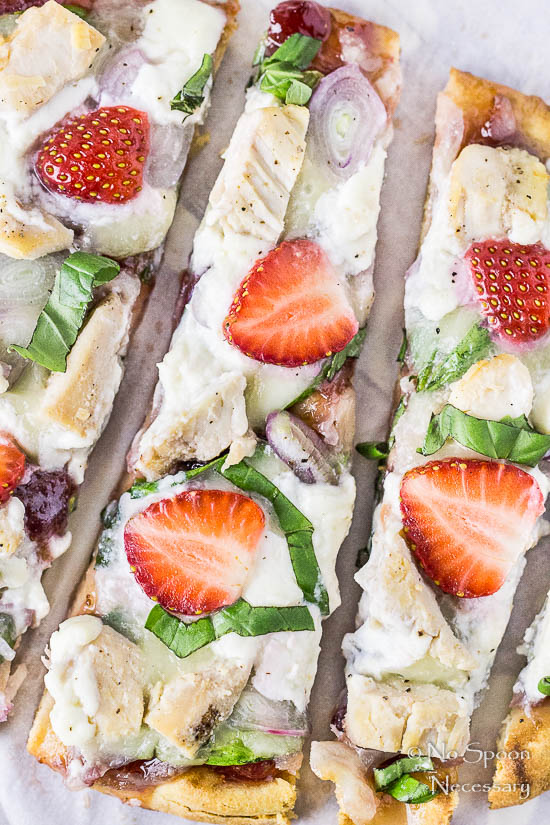 Chicken, Spinach & Strawberry Pizza