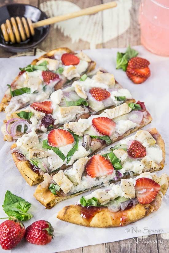Chicken, Spinach & Strawberry Pizza-170