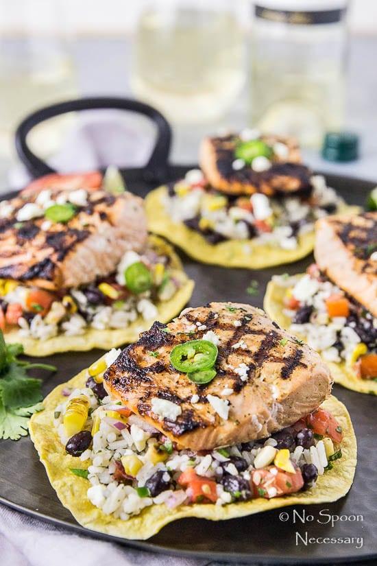 Grilled Mojo Salmon Tostada Platter-163