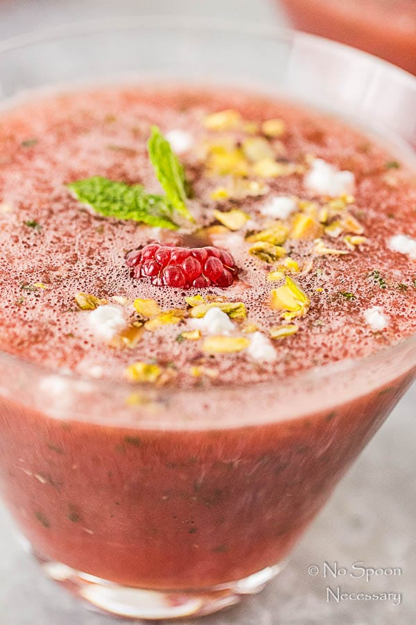 Chilled Watermelon & Rose Soup {with goat cheese & pistachios}-74