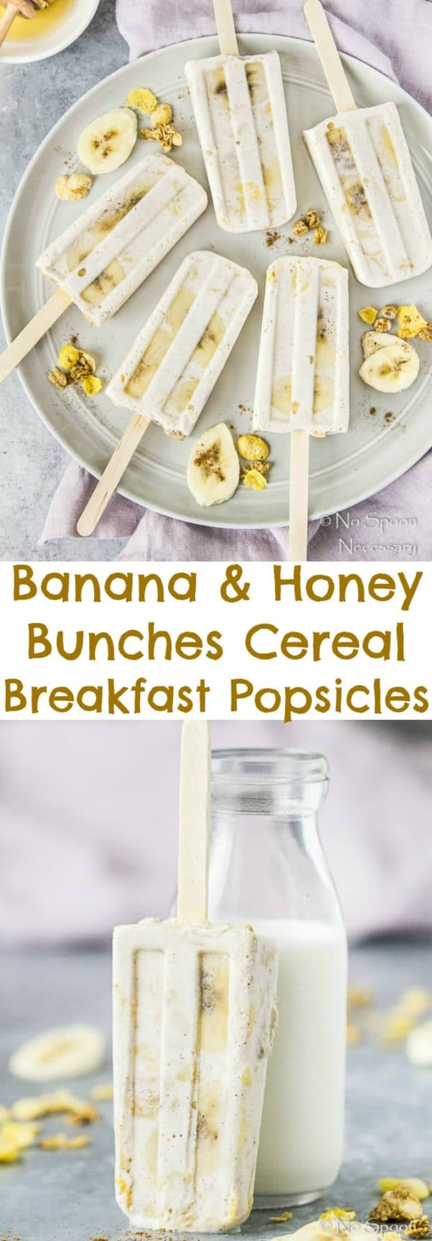 Banana & Honey Bunches Cereal Breakfast Popsicles-long pin2