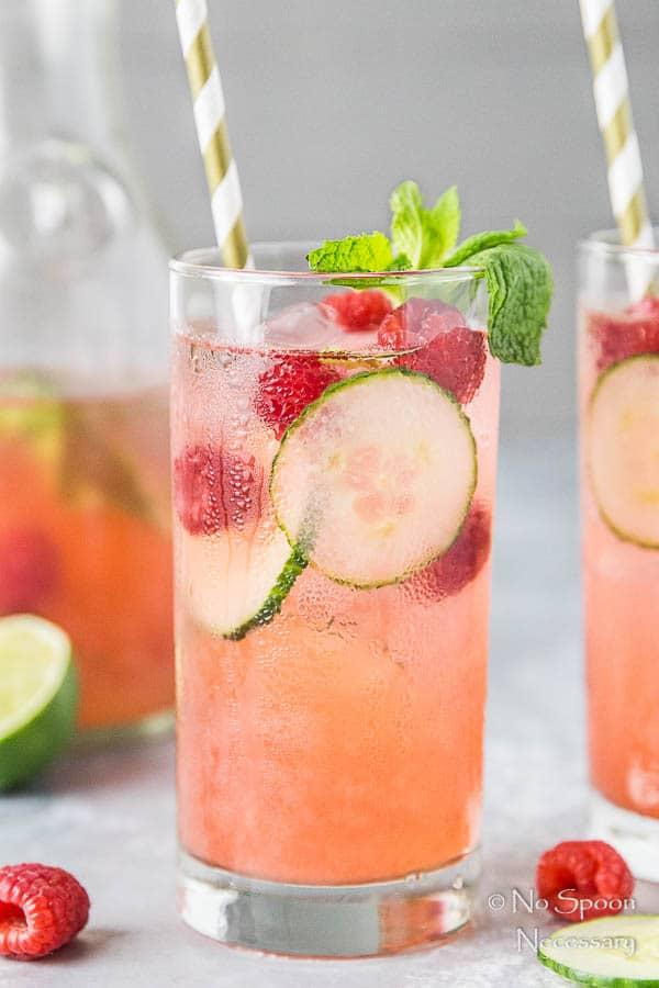 Cucumber & Raspberry Mojito-106