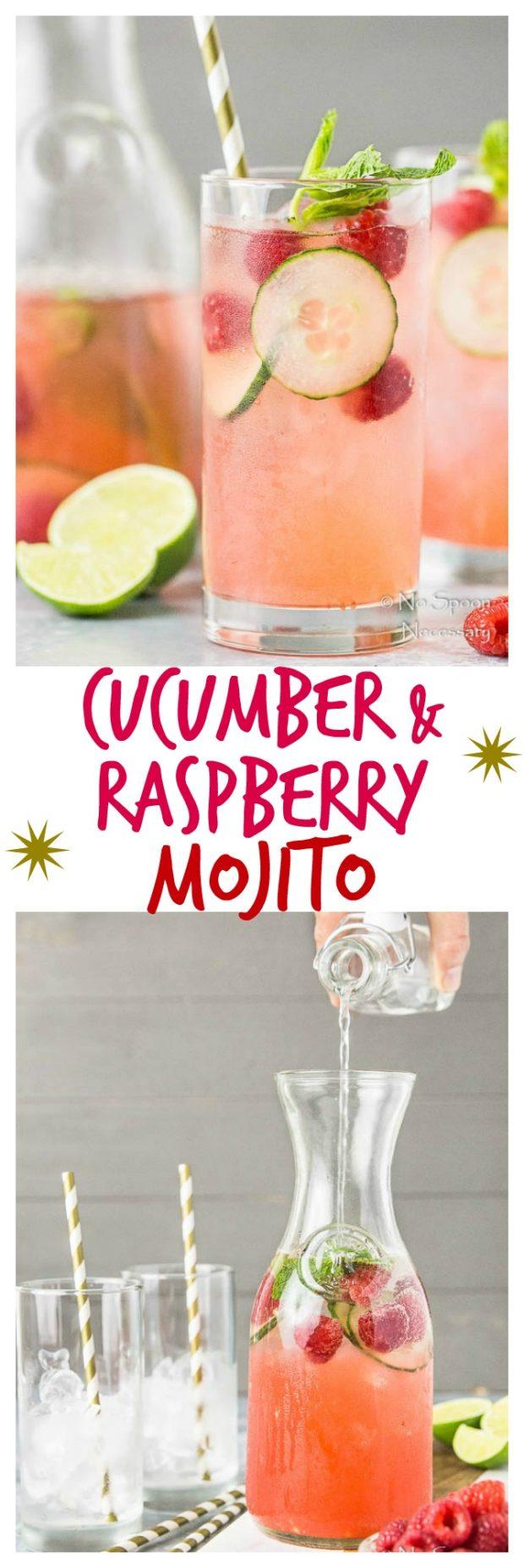 Cucumber & Raspberry Mojito-long pin1